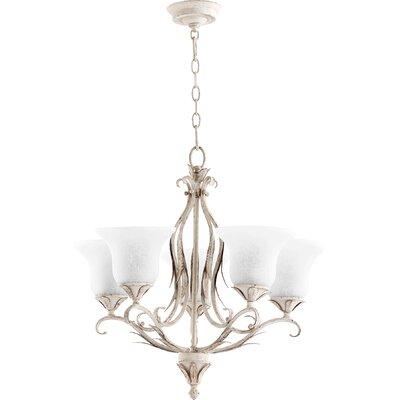 Harnois 5-Light Shaded Chandelier Finish: Persian White