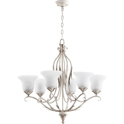 Harnois 6-Light Shaded Chandelier Finish: Persian White