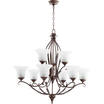 Harnois 9-Light Shaded Chandelier Finish: Vintage Copper