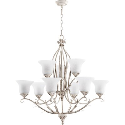 Harnois 9-Light Shaded Chandelier Finish: Persian White