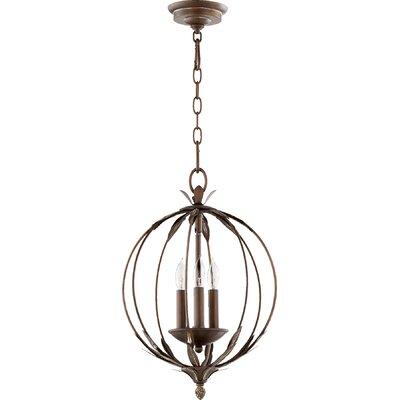 Harnois 3-Light Globe Pendant Finish: Vintage Copper