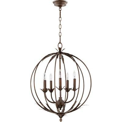 Harnois 5-Light Globe Pendant Finish: Vintage Copper