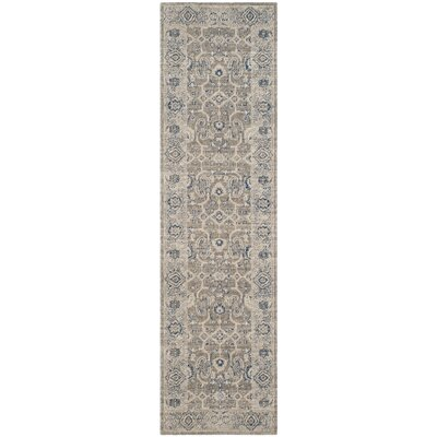 Palaiseur Taupe/Ivory Area Rug Rug Size: Runner 22 x 8