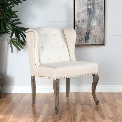 Soan Wingback Chair Upholstery: Beige
