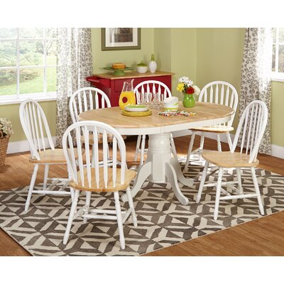 Lark Manor Gennevilliers 7 Piece Dining Set Finish: White / Natural