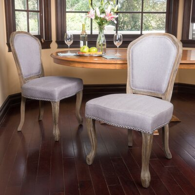 Ouellet Dining Chair Upholstery: Light Gray