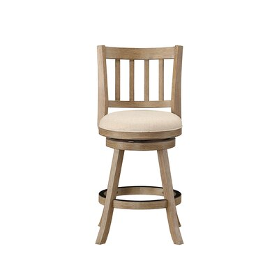 Naelle 24 Swivel Bar Stool Upholstery: Ivory