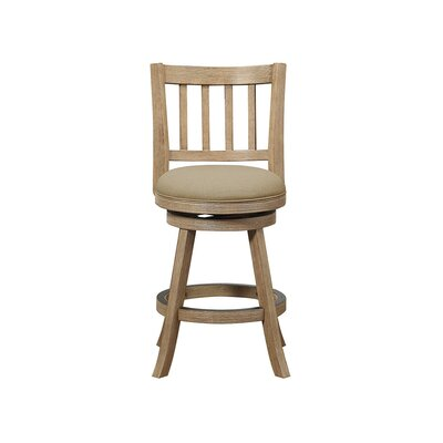 Naelle 24 Swivel Bar Stool Upholstery: Oatmeal