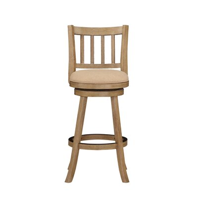 Naelle 29 Swivel Bar Stool Upholstery: Oatmeal