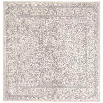 Pellot Light Gray/Cream Area Rug Rug Size: Square 67