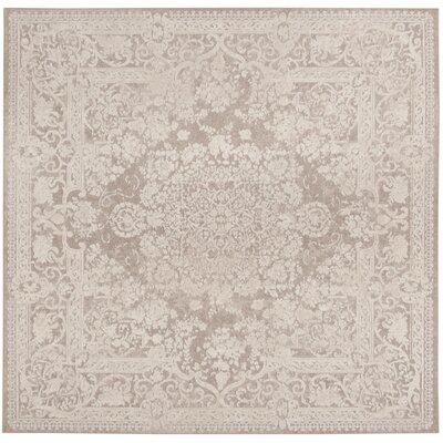 Pellot Beige/Cream Area Rug Rug Size: Square 67