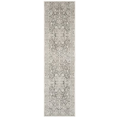 Pellot Dark Gray/Cream Area Rug Rug Size: Runner 23 x 8