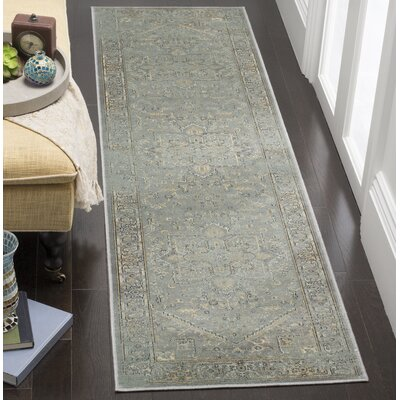 Meline Wool Gray Area Rug Rug Size: Runner 22 x 8