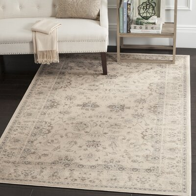 Malakoff Cream Area Rug Rug Size: Rectangle 12 x 18