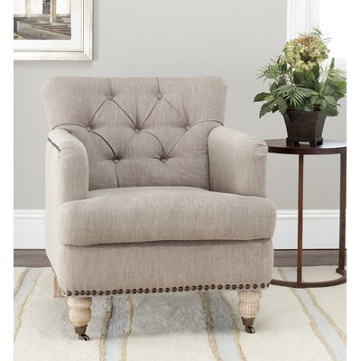Sevigny Armchair Upholstery: Taupe/White Wash