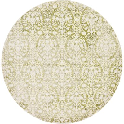 Patenaude Light Green Area Rug Rug Size: Round 6