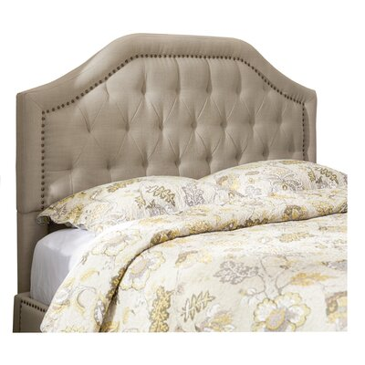 Djibril Scalloped Upholstered Panel Headboard Size: California King, Color: Oatmeal