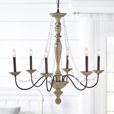 Eline 6-Light Candle-Style Chandelier