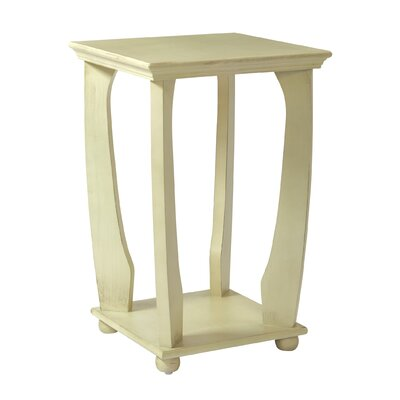 Stephane End Table Color: Antique White