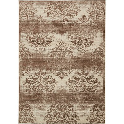 Mathieu Dark Beige/Cream Area Rug Rug Size: Round 5