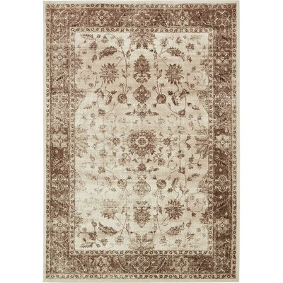 Mathieu Cream/Beige/Brown Area Rug Rug Size: Rectangle 5 x 8