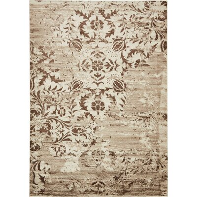 Matis Chocolate Brown/Beige Area Rug Rug Size: Rectangle 7 x 10