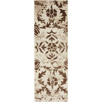 Matis Chocolate Brown/Beige Area Rug Rug Size: Runner 3 x 91