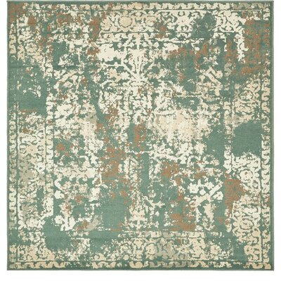 Forcalquier Green Indoor Area Rug Rug Size: Square 8