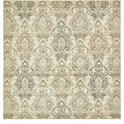Forcalquier Southwestern Beige Indoor Area Rug Rug Size: Square 8