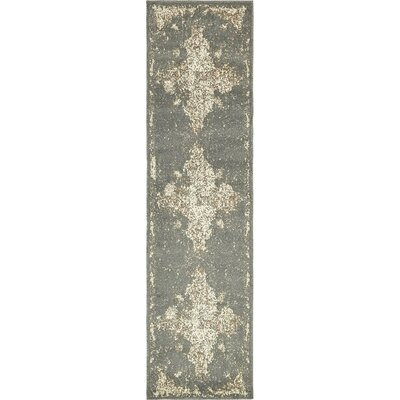 Forcalquier Rectangle Gray Area Rug Rug Size: Runner 2 x 6