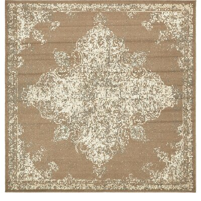 Forcalquier Brown Area Rug Rug Size: Square 8
