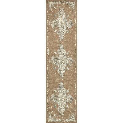 Forcalquier Brown Area Rug Rug Size: Runner 26 x 10