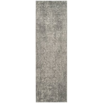 Chaudiere Silver/Ivory Area Rug Rug Size: Runner 22 x 5