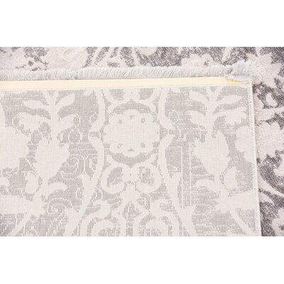 Patenaude Light Gray Area Rug Rug Size: Rectangle 9 x 12