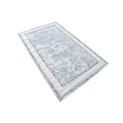 Ouellette Light Blue Area Rug Rug Size: Rectangle 3 x 6