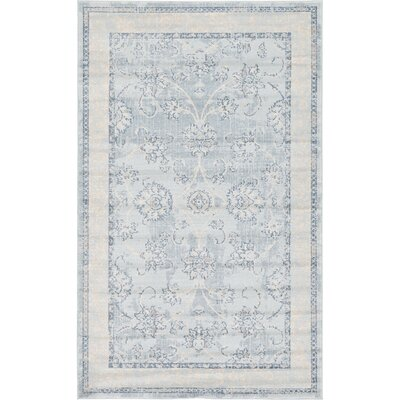 Ouellette Light Blue Area Rug Rug Size: Rectangle 122 x 16