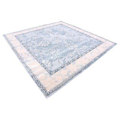Ouellette Light Blue Area Rug Rug Size: Square 8