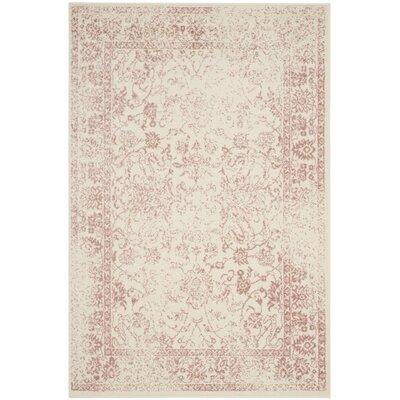 Issa Ivory/Rose Area Rug Rug Size: Rectangle 4 x 6