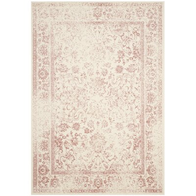 Issa Ivory/Rose Area Rug Rug Size: Rectangle 51 x 76