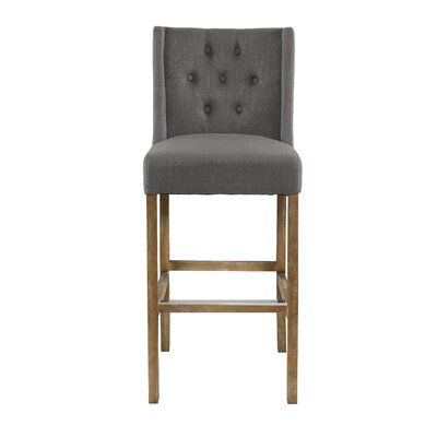 Sixtine 30 Bar Stool Upholstery: Gray