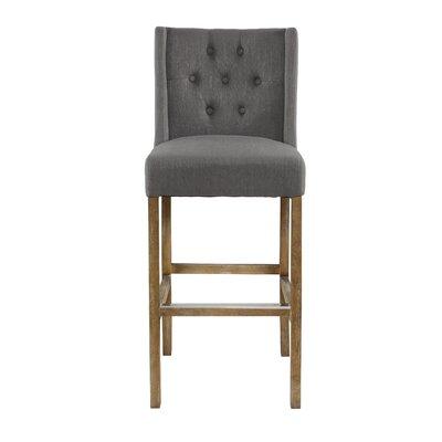 Sixtine 30 Bar Stool Upholstery: Gray