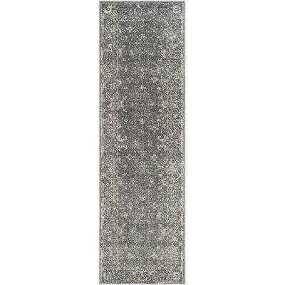 Montelimar Gray/Ivory Area Rug Rug Size: Runner 22 x 11
