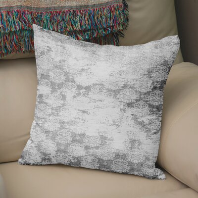 Victoire Burlap Throw Pillow Size: 24 H x 24 W x 5 D, Color: Grey