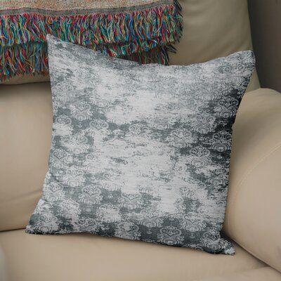 Victoire Burlap Throw Pillow Size: 16 H x 16 W x 5 D, Color: Grey