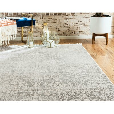 Patenaude Light Gray Area Rug Rug Size: Rectangle 4 x 6