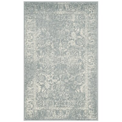 Issa Slate/Ivory Area Rug Rug Size: Rectangle 3 x 5