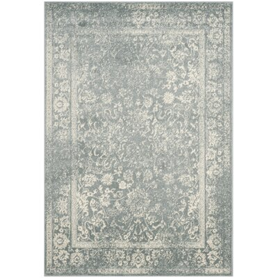 Issa Slate/Ivory Area Rug Rug Size: Rectangle 51 x 76