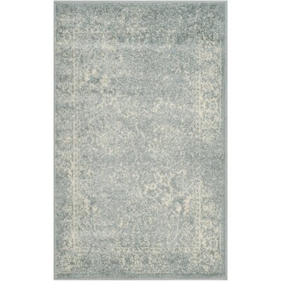 Issa Slate/Ivory Area Rug Rug Size: Rectangle 26 x 4