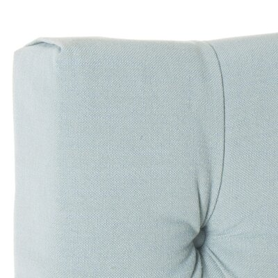 Ellecourt Upholstered Panel Headboard Size: Twin, Color: Sky Blue, Upholstery: Polyester