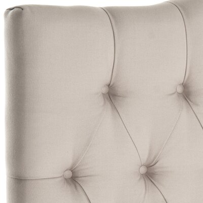 Ellecourt Upholstered Panel Headboard Size: Twin, Color: Taupe, Upholstery: Linen